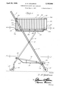 Retail en sus orígenes, dibujo del primer carrito de supermercado