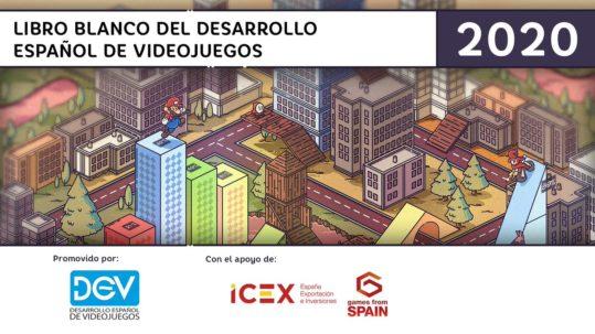 LIBRO BLANCO DEL DESARROLLO ESPAÑOL DE VIDEOJUEGOS PORTADA 2020